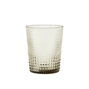 Drinking glass with geometric design