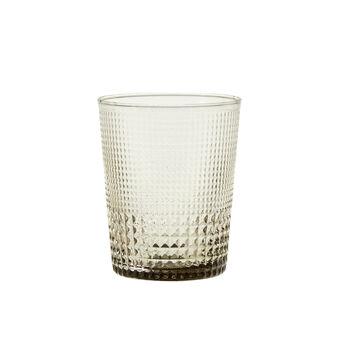 Bicchiere vetro lavorazione geometrica