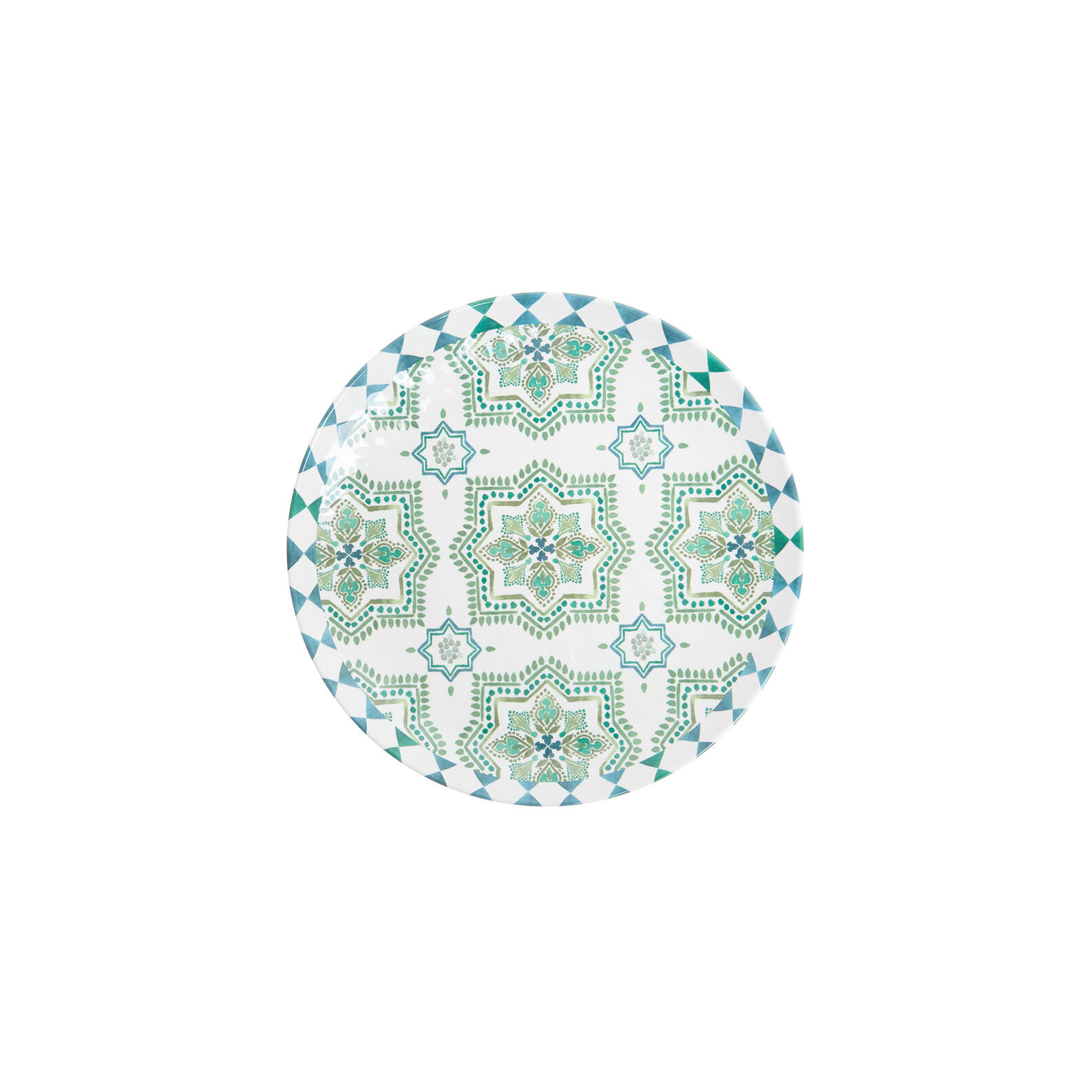Melamine side plate with Morocco decoration