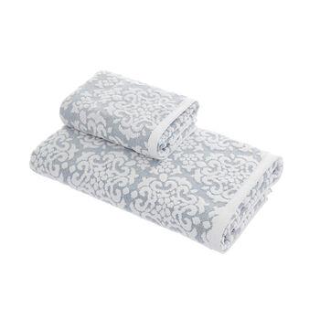 100% cotton towel with velvet flowers