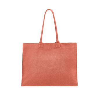 Maxi cotton canvas beach bag