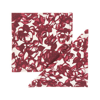 2-pack napkins in 100% cotton with rose print
