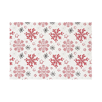 100% cotton table mat with snowflakes print