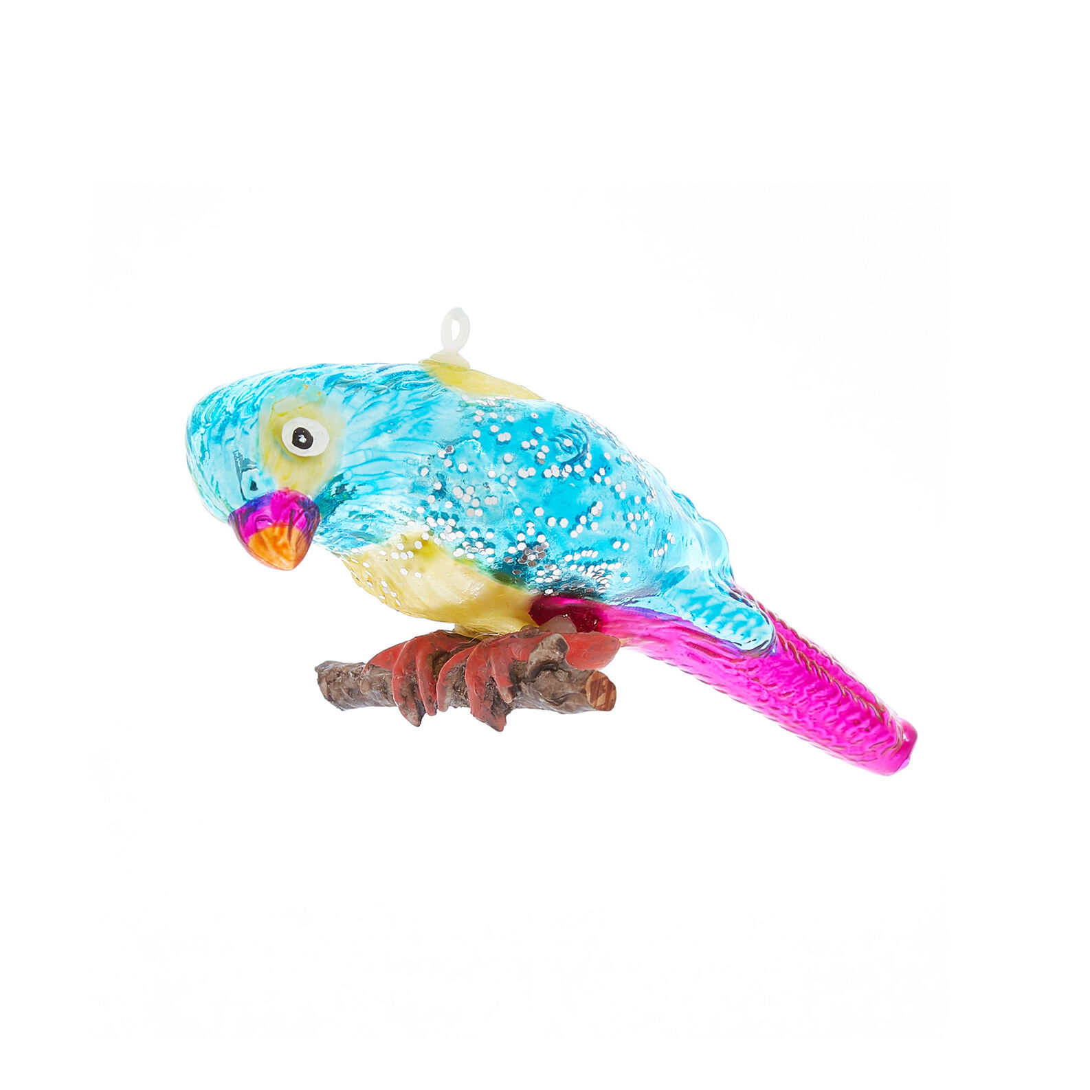 Hand-decorated parrot decoration