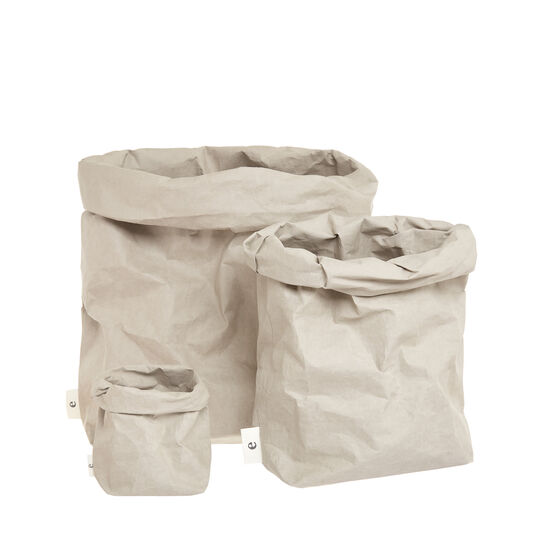 Essential container sack in recycled paper