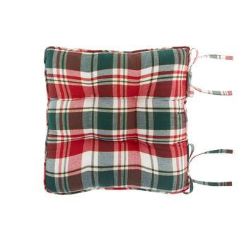 Cuscino da sedia twill di cotone tartan e fili lurex