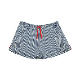 Shorts viscosa a righe