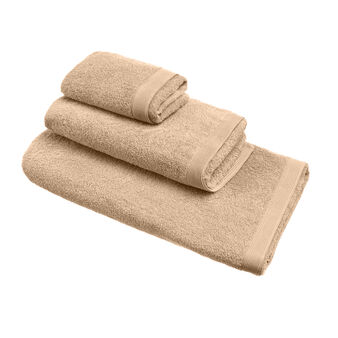 100% cotton towel with with striped edging