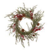 Decorative wreath with red berries