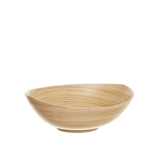 Oval bamboo bowl