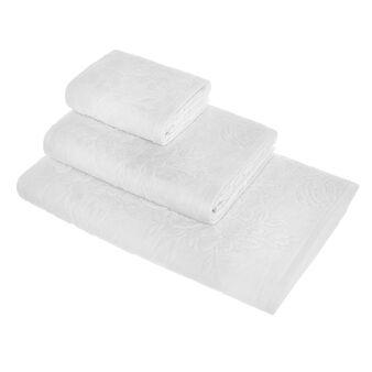 Asciugamano puro cotone lavorazione floreale