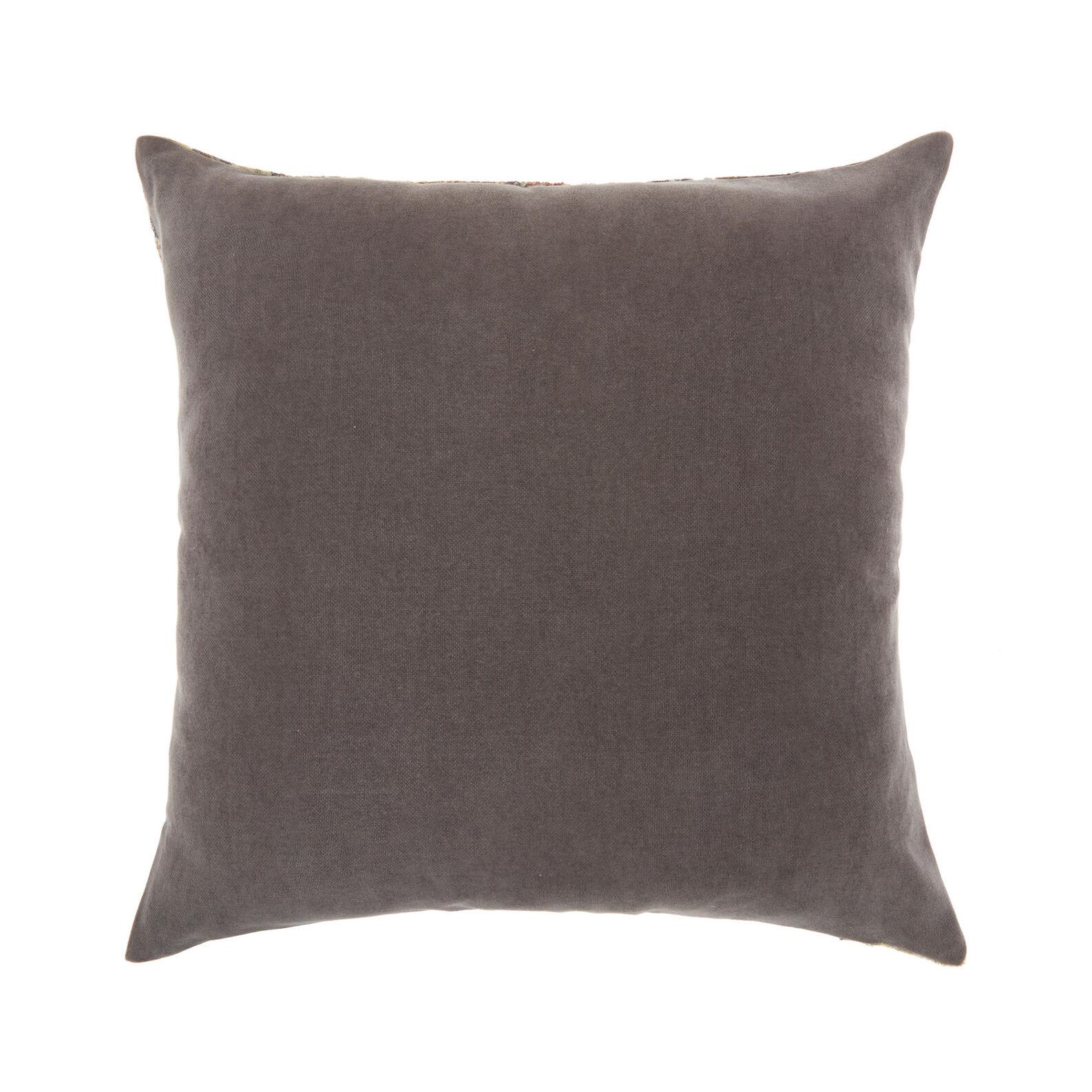 Velvet cushion with vintage effect (45x45cm)