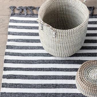 Hand-woven rug.