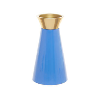 Metal cone-shaped candlestick