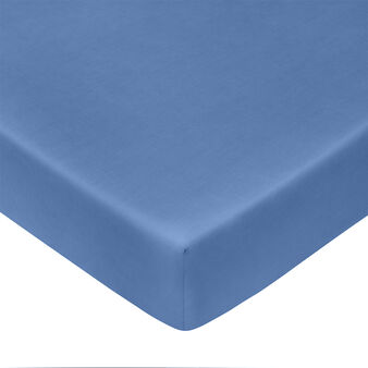 Zefiro solid colour fitted sheet in percale.