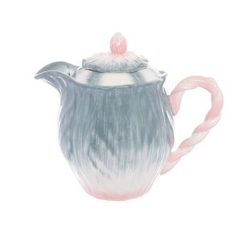 Flower-shaped ceramic teapot