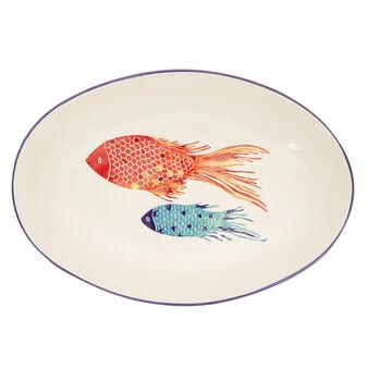 Coppa ceramica decoro pesci