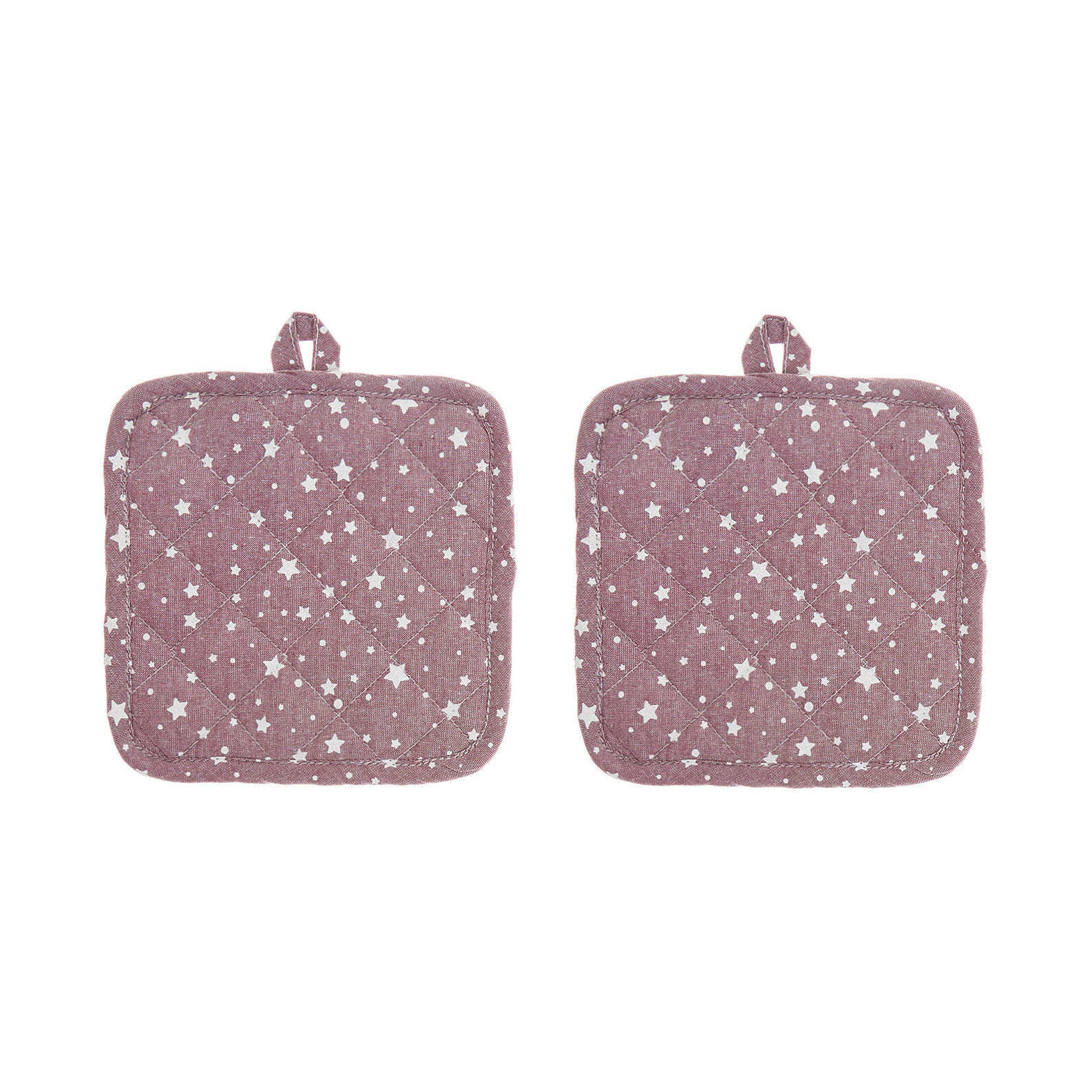 Two-pack pot holders in 100% cotton with stars print