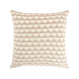 Square cushion with wave motif