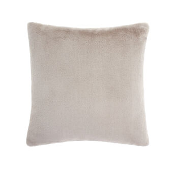 Fur-effect cushion