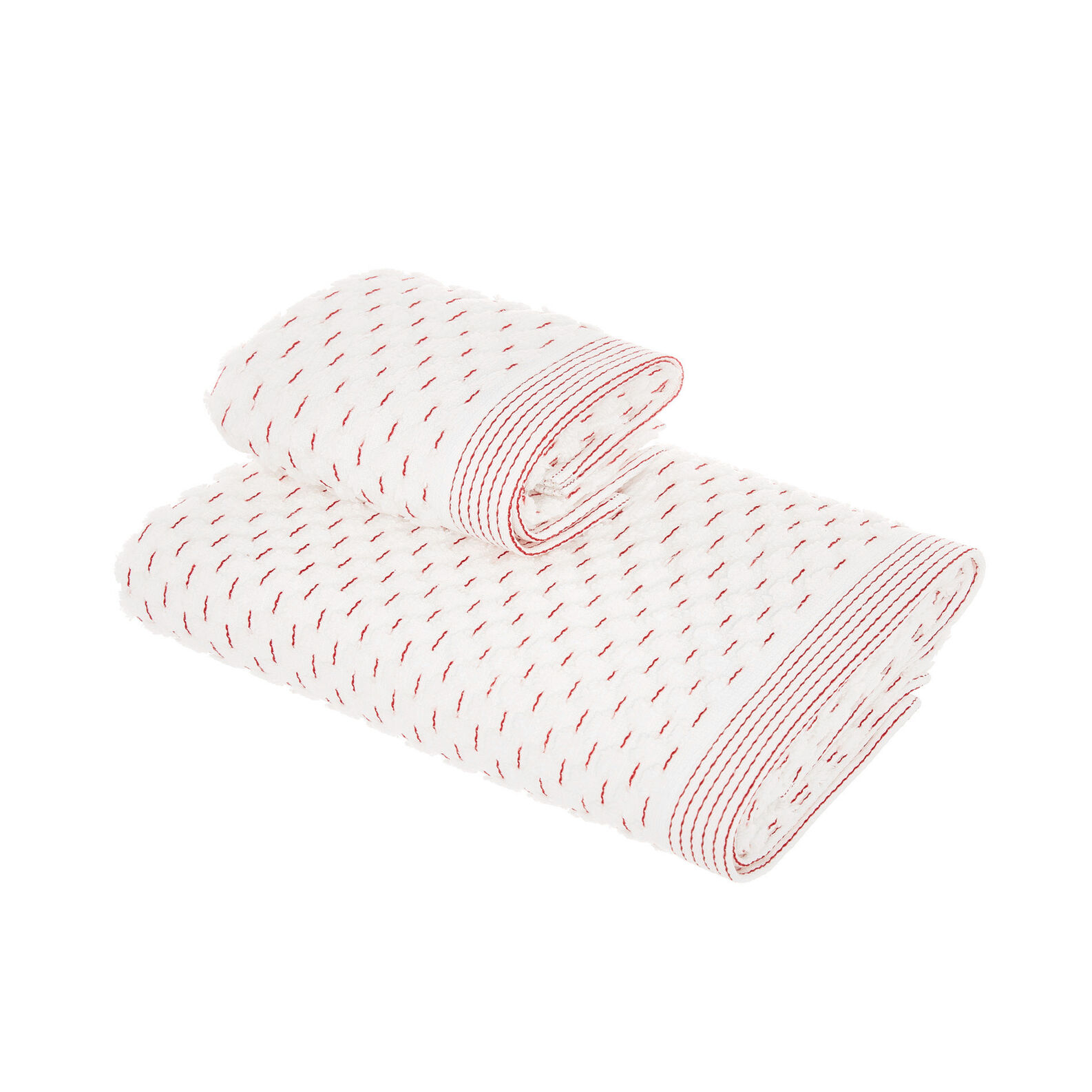 Set of 2 towels with jacquard design