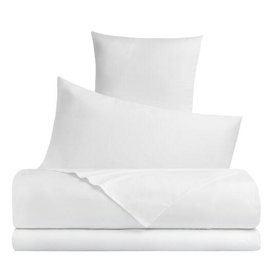 Solid colour cotton satin bed sheet set