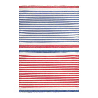 Set of 2 place mats in 100% striped cotton
