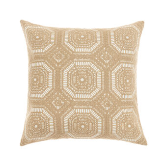 Cuscino ricami geometrici 45x45cm