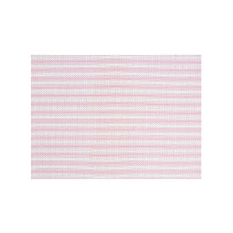 100% cotton table mat with decorative stripes