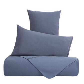 Solid colour linen blend duvet cover
