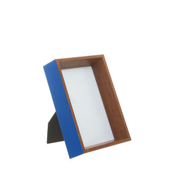 Coloured wood photo frame