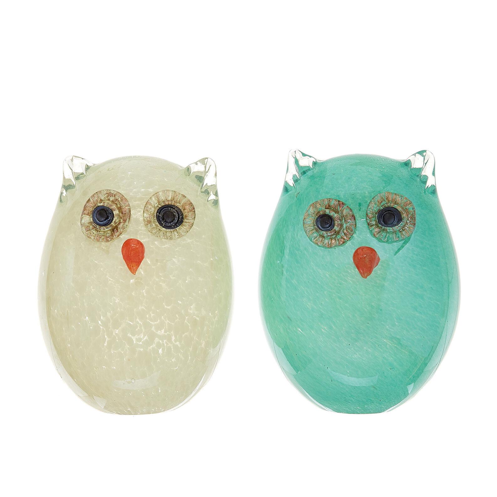 Handmade coloured glass owl