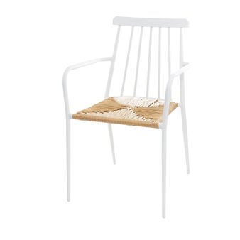 Cargo Dessau chair in aluminium and straw