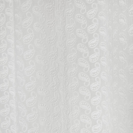 Tenda puro cotone ricamo paisley