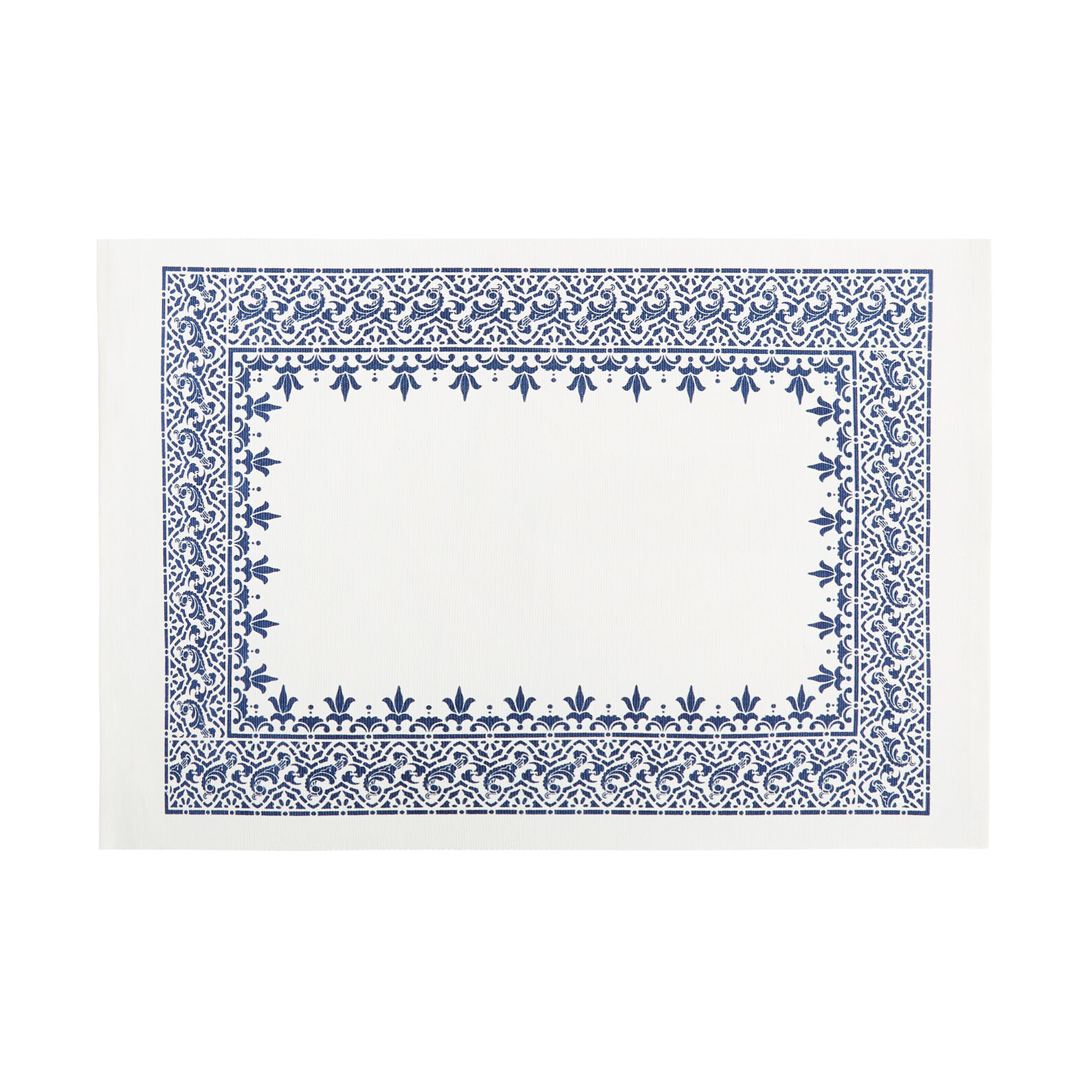 100% cotton table mat with printed edging
