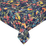 100% cotton made in Europe tablecloth with floral print