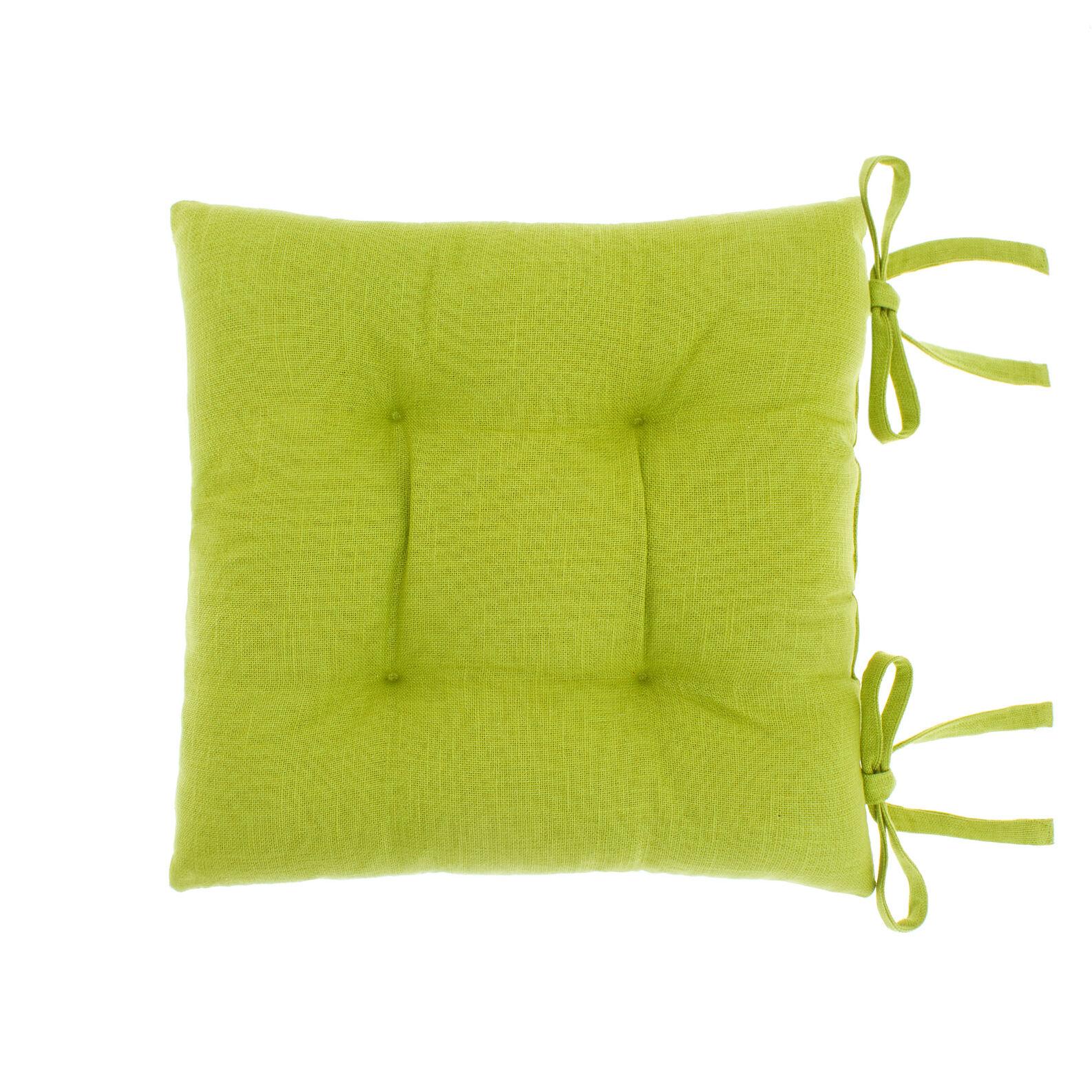 Cuscino da sedia puro cotone fiammato