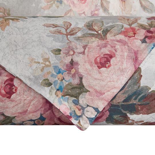 Parure copripiumino raso di cotone fantasia rose