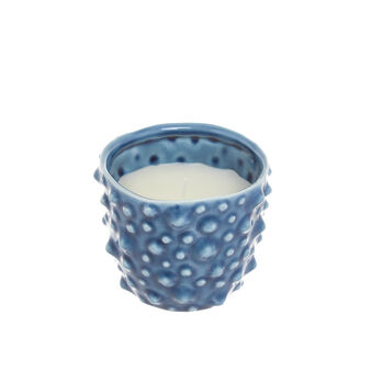 Candela in pot di ceramica