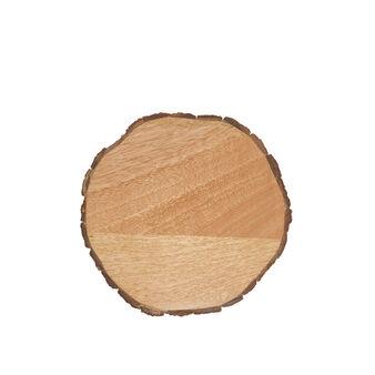 Mango wood and bark trivet