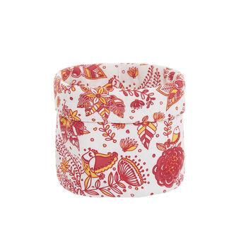 100% cotton basket with mandala print