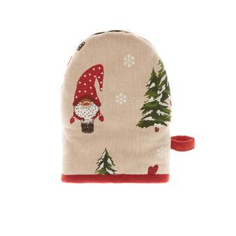 Guanto da cucina puro cotone stampa natalizia