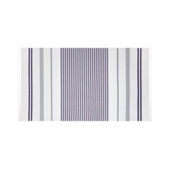 Striped jacquard cotton hammam beach towel