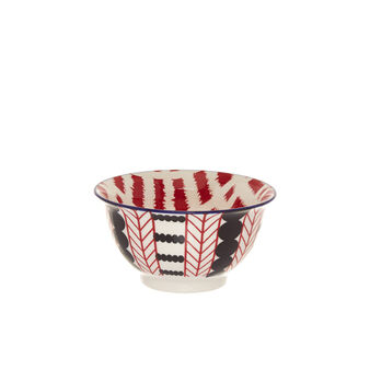 Small stoneware bowl with geometric motif