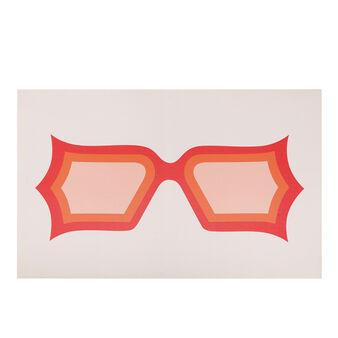 Tela con stampa fotografica occhiali
