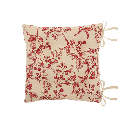 Seat pad with round peppers print