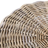 Bungalow coffee table in woven rattan