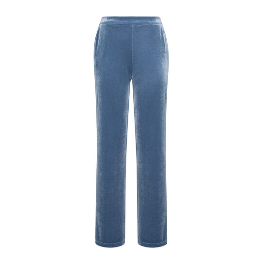 Soft pants in solid color chenille