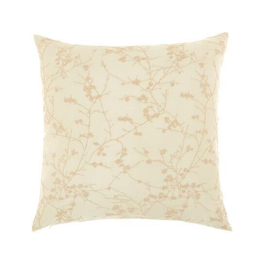 Ramage motif jacquard cushion (50x50cm)