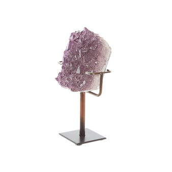 Artificial amethyst crystal with stand